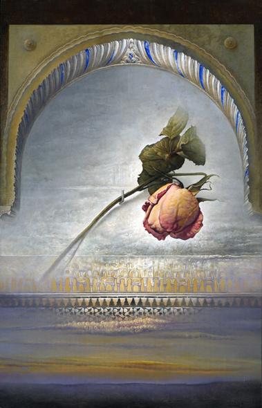 Obra de Juan Francisco Cárceles titulada La rosa de la Alhambra