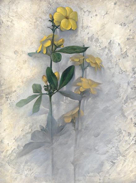 Obra de Juan Francisco Cárceles titulada Jazmines amarillos II