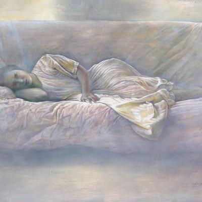 Alicia en el sofá