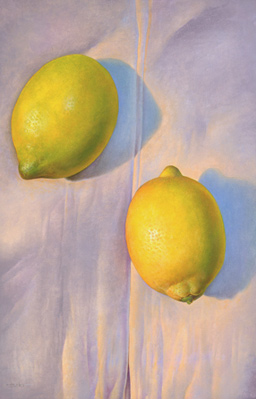 Obra de Juan Francisco Cárceles titulada Dos limones