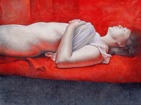 Obra de Juan Francisco Cárceles titulada El sueño iluminado