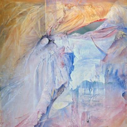 Espacio ausente | Técnica Mixta sobre tela pegada en madera | 55 x 38 cm | 1990
