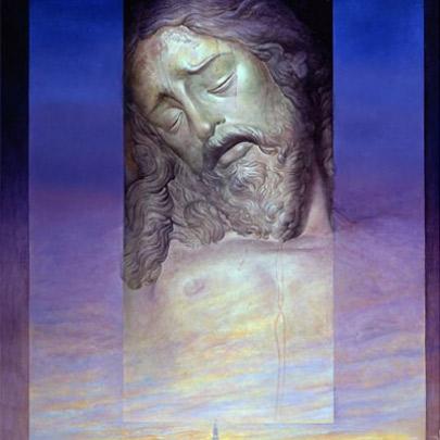 Cartel Semana Santa de Sevilla 2005 | Óleo sobre tela pegada en madera | 81 x 54 cm | 2005