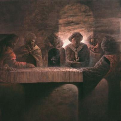 El alba encadenada | Óleo sobre tela | 200 x 300 cm | 1982