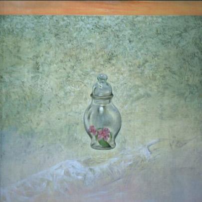 El cristal silencioso | Tecnica mixta sobre tela pegada en madera | 55 x 38 cm | 1993