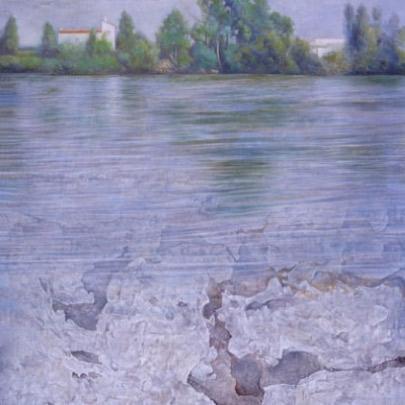 El tiempo sumergido | Óleo sobre madera | 45 x 32,5 5 cm | 2002