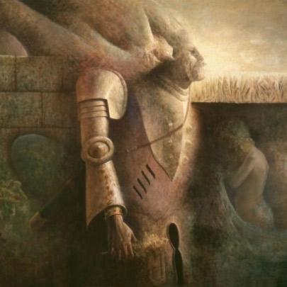 La muralla | Óleo sobre madera | 126 x 190 cm | 1976 – 1978