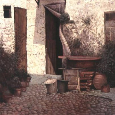 La siesta | Óleo sobre madera | 48,5 x 61 cm | 1978