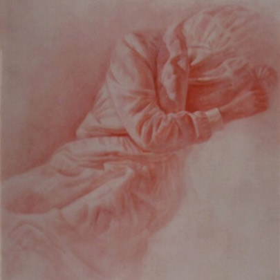 María Ausente | Técnica mixta sobre pergamino | 31 x 25 cm | 1982