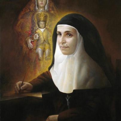 Santa Ángela de la Cruz | Óleo sobre tela pegada en madera | 100×73 cm | 2007