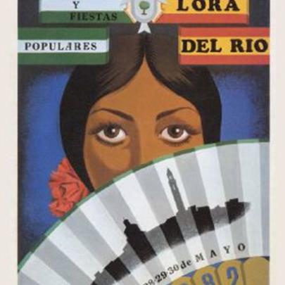 Cartel Feria de Lora del Río 1982 | Témpera sobre cartón | 1982