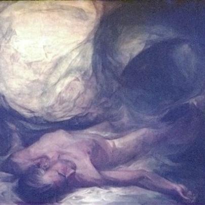 Composición con figura | Óleo sobre tela | 97 x 130 cm | 1974
