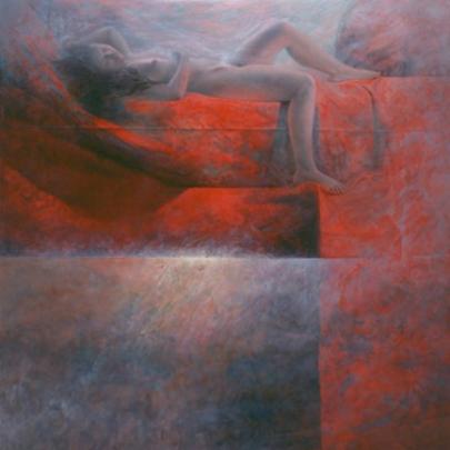 Dánae | Técnica mixta sobre madera | 100 x 73 cm | 1996 -1997
