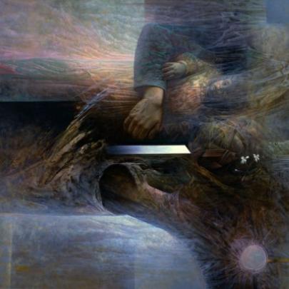Espacio para una pleamar ausente | Óleo sobre madera | 81,5 x 122 cm | 1981 - 1986