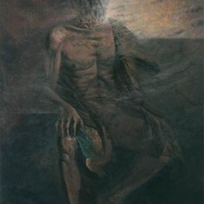 Hombre anónimo | Óleo sobre madera | 129 x 91 cm | 1982