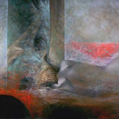 La estela del olvido | Óleo sobre madera | 61 x 122 cm | 1993