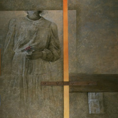 La flor del silencio | Óleo sobre tela pegada en madera | 146 x 114 cm | 1989 – 1995