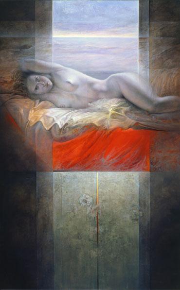 Obra de Juan Francisco Cárceles titulada Reencuentro